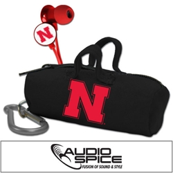 Nebraska Cornhuskers Scorch Earbuds with BudBag