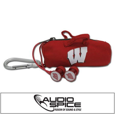 Wisconsin Badgers Scorch Earbuds with BudBag
