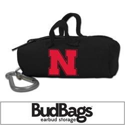 Nebraska Cornhuskers BudBag Earbud Storage