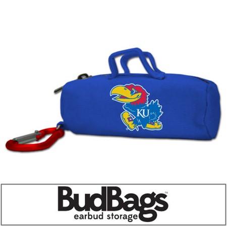 Kansas Jayhawks BudBag Earbud Storage