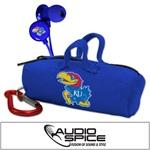 Kansas Jayhawks Scorch Earbuds with BudBag