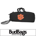Clemson Tigers BudBag Earbud Storage