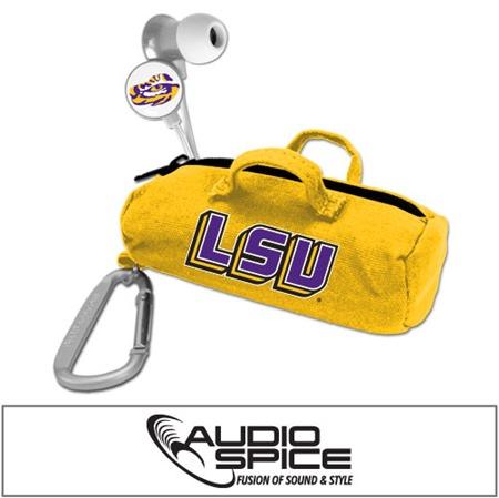 LSU Tigers Scorch Earbuds with BudBag