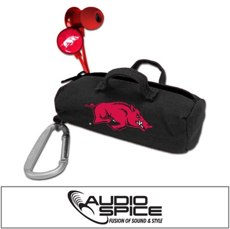 Arkansas Razorbacks Scorch Earbuds with BudBag