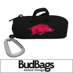 Arkansas Razorbacks BudBag Earbud Storage