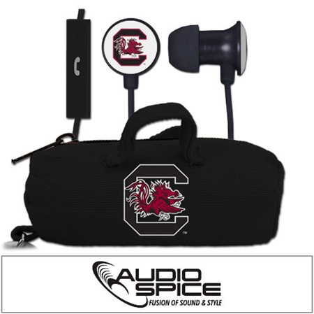 South Carolina Gamecocks Scorch Earbuds  + Mic with BudBag