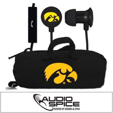 Iowa Hawkeyes Scorch Earbuds  + Mic with BudBag
