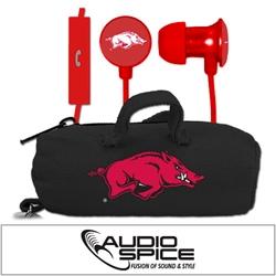 Arkansas Razorbacks Scorch Earbuds + Mic with BudBag