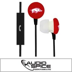 Arkansas Razorbacks Ignition Earbuds + Mic