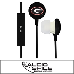 Georgia Bulldogs Ignition Earbuds + Mic