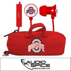 Ohio State Buckeyes Scorch Earbuds  + Mic with BudBag