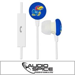 Kansas Jayhawks Ignition Earbuds + Mic