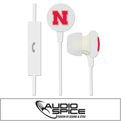 Nebraska Cornhuskers Ignition Earbuds + Mic