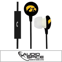 Iowa Hawkeyes Ignition Earbuds + Mic