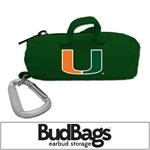 U Miami Hurricanes BudBag Earbud Storage