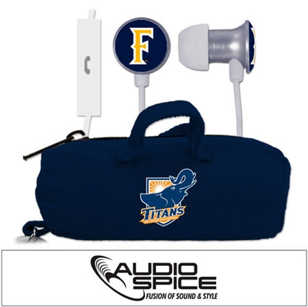 Cal State Fullerton Titans Scorch Earbuds + Mic with BudBag