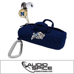 Navy Midshipmen Scorch Earbuds with BudBag