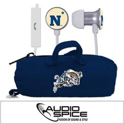 Navy Midshipmen Scorch Earbuds + Mic with BudBag