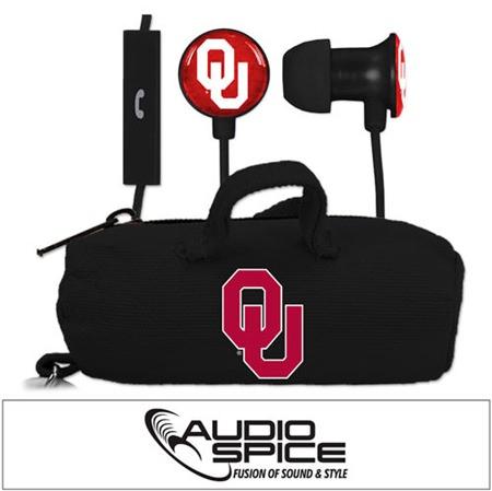 Oklahoma Sooners Scorch Earbuds + Mic with BudBag