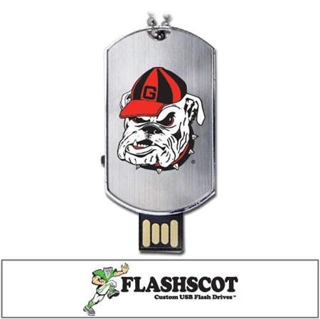 Georgia Bulldogs Flash Tag USB Drive