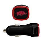 Arkansas Razorbacks USB Car Charger