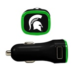 Michigan State Spartans USB Car Charger
