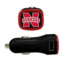 Nebraska Cornhuskers USB Car Charger