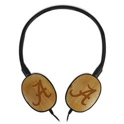 Alabama Crimson Tide Bamboo Headphones