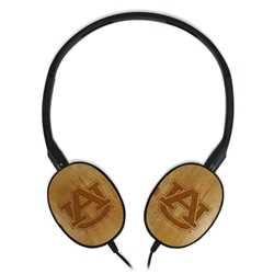Auburn Tigers Bamboo Headphones