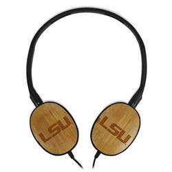 LSU Tigers Bamboo Headphones