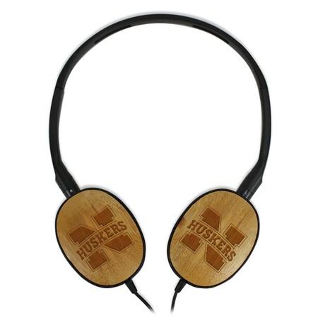 Nebraska Cornhuskers Bamboo Headphones