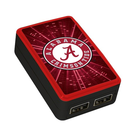 Alabama Crimson Tide WP-200X Dual-Port USB Wall Charger