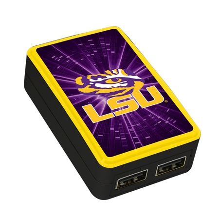 LSU Tigers WP-200X Dual-Port USB Wall Charger