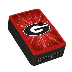 Georgia Bulldogs WP-200X Dual-Port USB Wall Charger