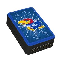 Kansas Jayhawks WP-200X Dual-Port USB Wall Charger