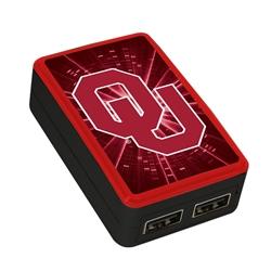 Oklahoma Sooners WP-200X Dual-Port USB Wall Charger