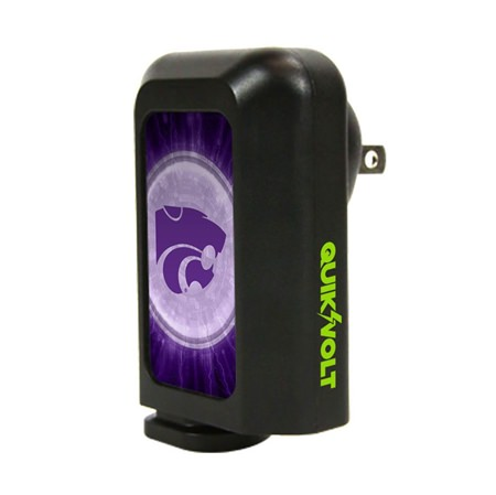 Kansas State Wildcats WP-210 2 in 1 Car/Wall Charger Combo