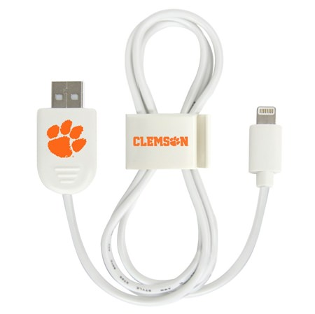 Clemson Tigers Lightning USB Cable with QuikClip