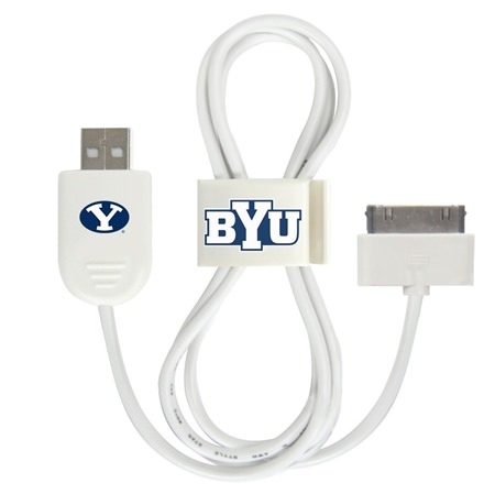 BYU Cougars 30-Pin USB Cable with QuikClip
