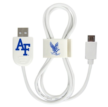Air Force Falcons Micro USB Cable with QuikClip