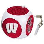 Wisconsin Badgers MX-100 Cubio Mini Bluetooth® Speaker Plus Selfie Remote