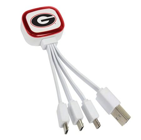 Georgia Bulldogs Tri-Charge USB Cable
