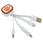 Clemson Tigers Tri-Charge USB Cable w/ Lightning Adapter
