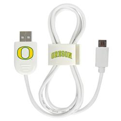 Oregon Ducks Micro USB Cable with QuikClip