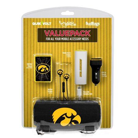 Iowa Hawkeyes Mobile Accessory ValuePack