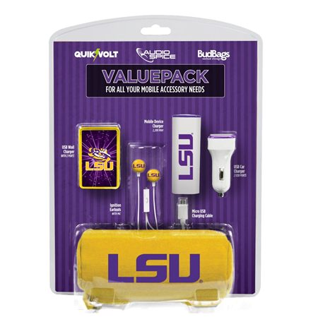 LSU Tigers Mobile Accessory ValuePack