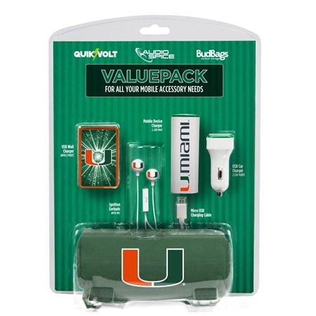 U Miami Hurricanes Mobile Accessory ValuePack