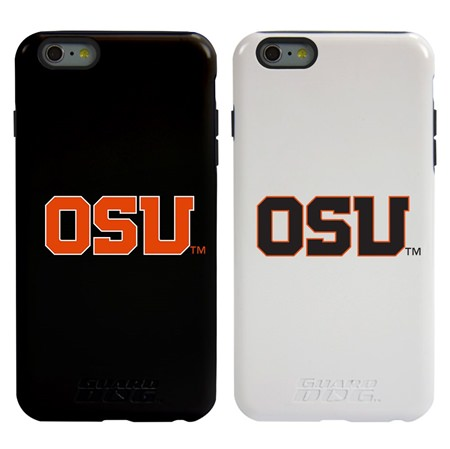 Guard Dog Oregon State Beavers Hybrid Phone Case for iPhone 6 Plus / 6s Plus with Guard Glass Screen Protector