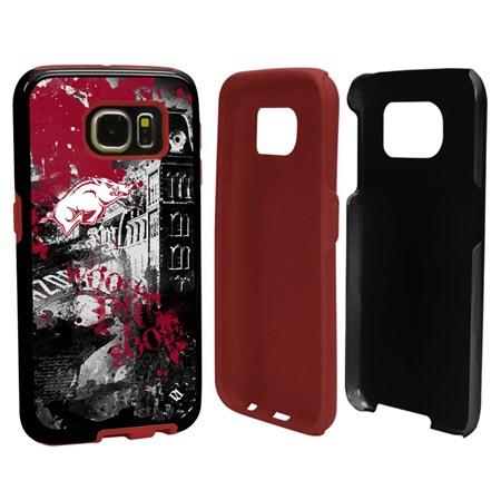 Arkansas Razorbacks PD Spirit Hybrid Case for Samsung Galaxy S6 with Guard Glass Screen Protector