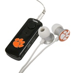 Clemson Tigers HR-100 Bluetooth® Receiver with BudBag & Earbuds